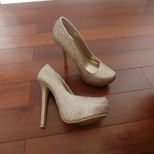 Rose gold heels. Only worn once.